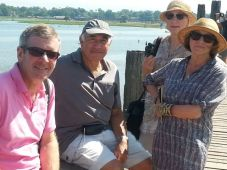 Mandalay: Coming back from Mingun, Ross, Rick. Jane and Lucille