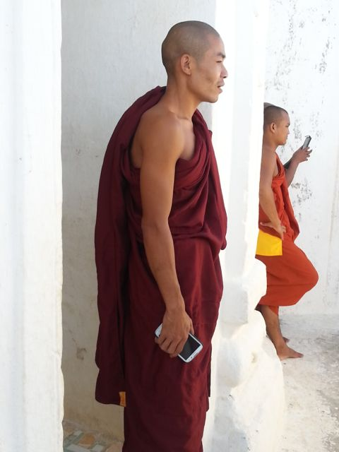 Monks all have mobiles!
