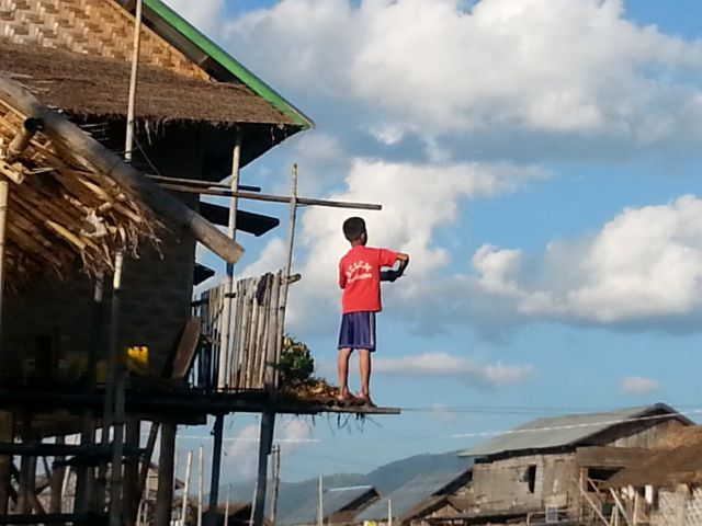 The boys love flying kites