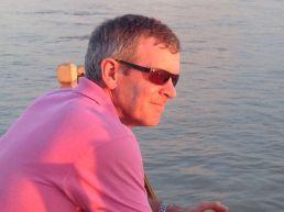 Enjoying the sunset on the Ayurawaddy