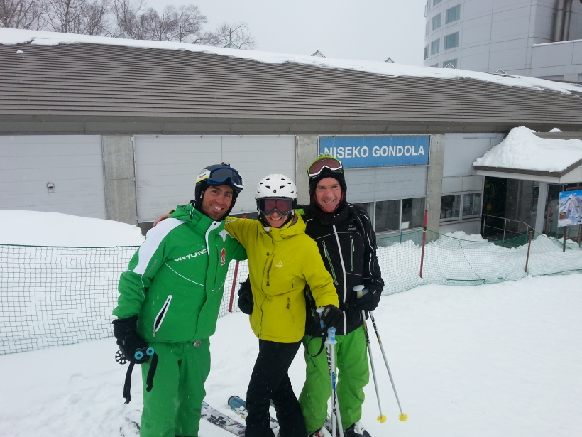 With Gabe outside the Niseko gondala station