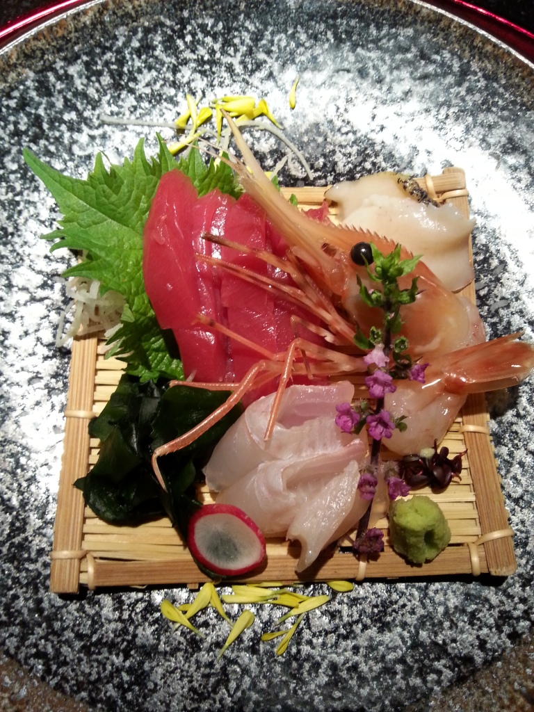 Sashimi course of Tepanyaki