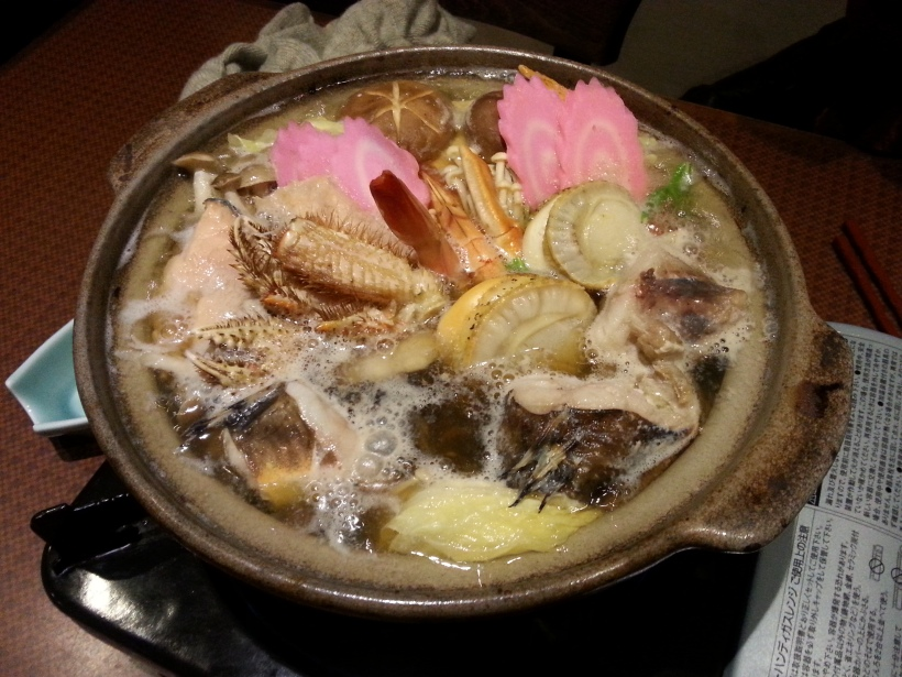 Hotpot - full of crusty fishy bits...