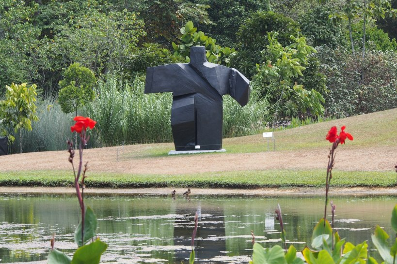 Ju Ming sculpture in the Botanic garden