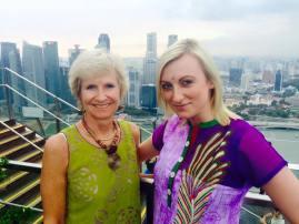 Sing: At Ku De Ta, Marina Bay Sands celebrating Liuise's birthday with Dot