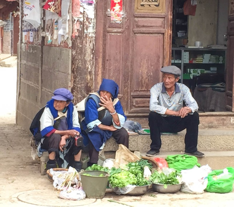 Vegetable sellers by the town gate