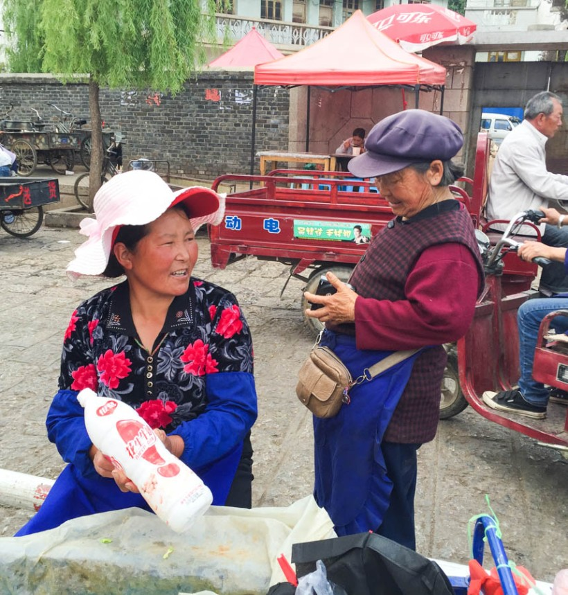 Two Naxi ladies having a chat