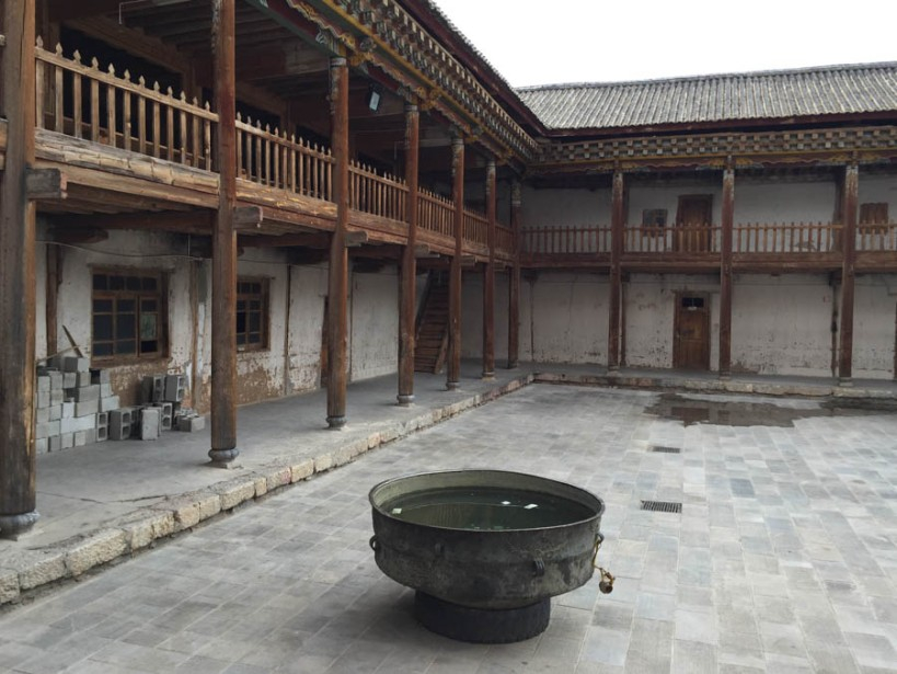 The ancient courtyard, largely untouched since its founding