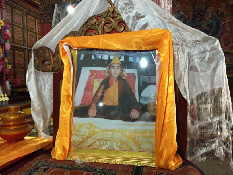 The Panchen Lama on display