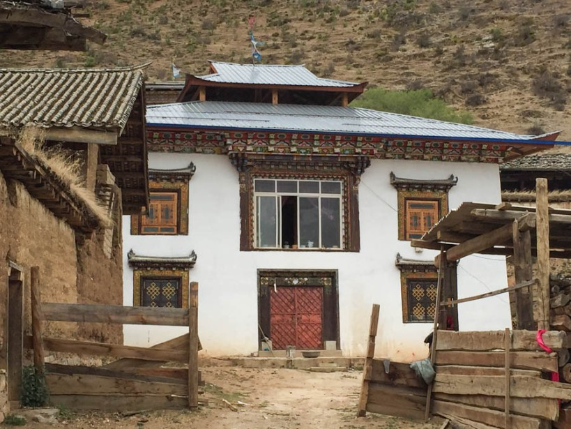 Typical Tibetan farmhouse