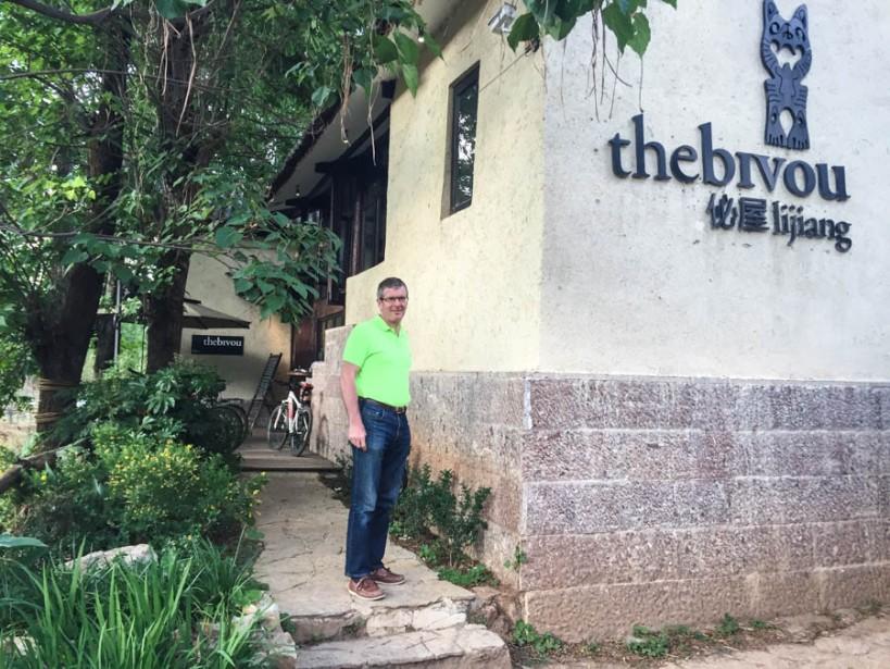 Ross outside the Bijou