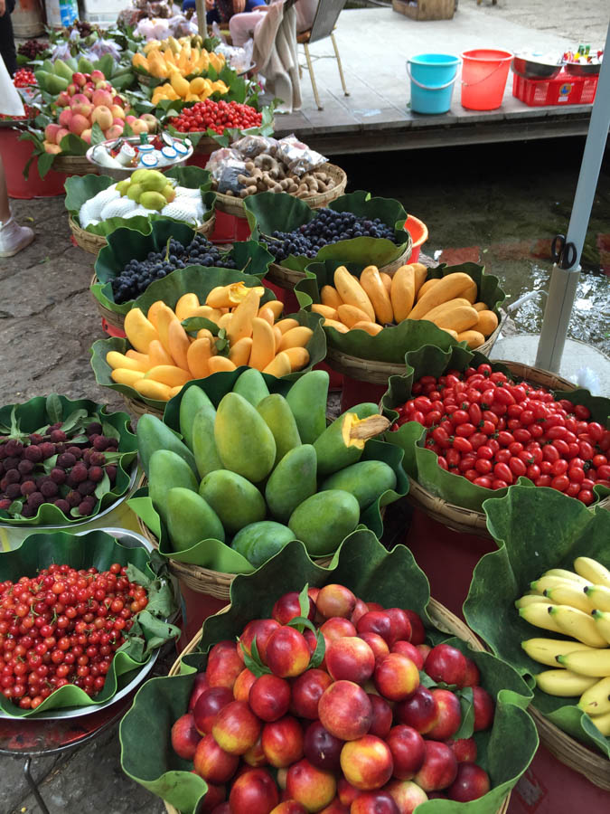Fruit on display in Shuhe
