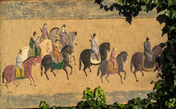 Tea Horse caravan mural in Shuhe