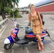 Dali: Union Jack scooter in Dali
