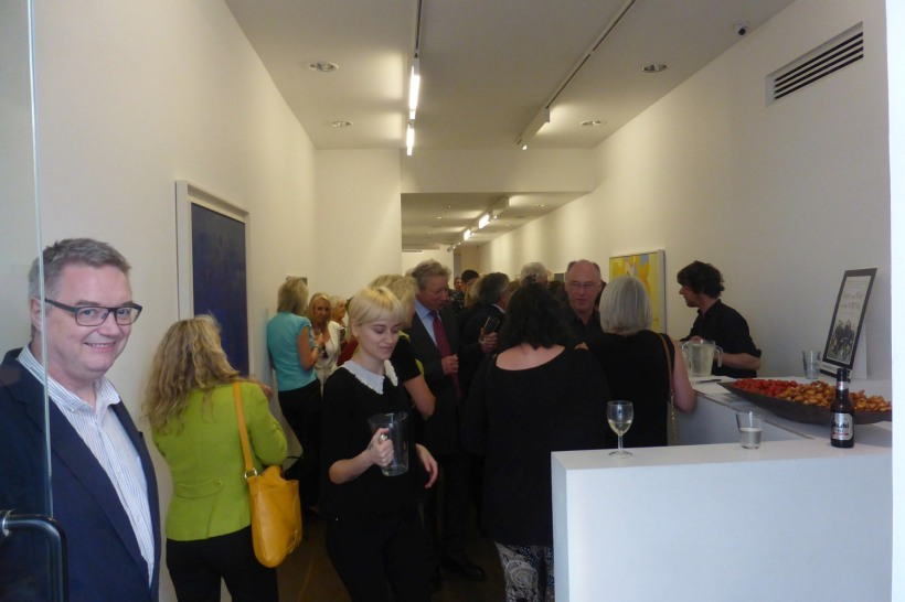 Gallery packed with people
