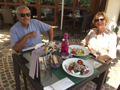 lunch with Diego and Christine outside Geneva - at the Golf Club