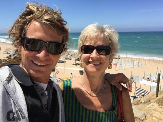 Sasha and me at the beach - Guincho