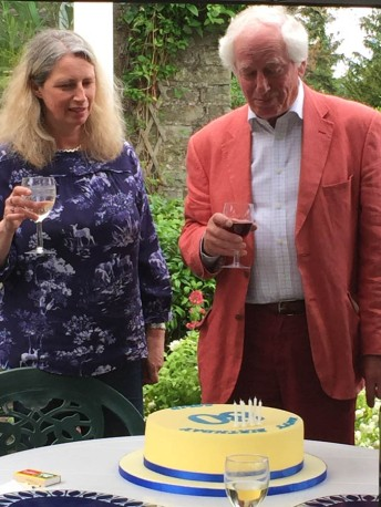 Colin and daughter Kate on his 80th birthday