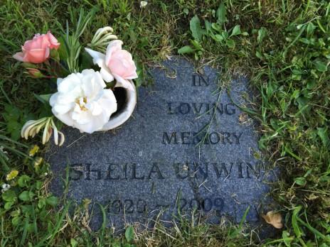 Mum's headstone in Brnascombe