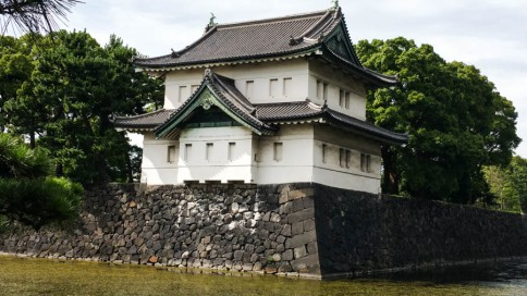 A gatehouse at the Imperial Palace