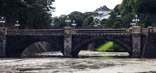 Classic view of the bridge to the Imperial Palace