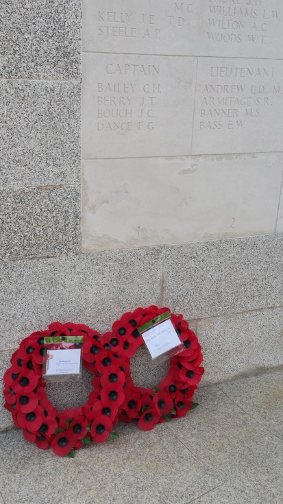 The OE wreaths - you can see Capt Dance's name clearly bottom left