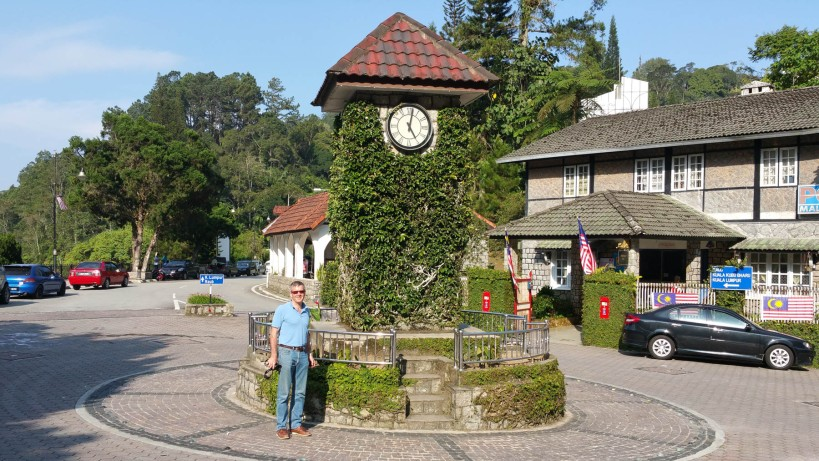 The clock tower in Fraser's Hill