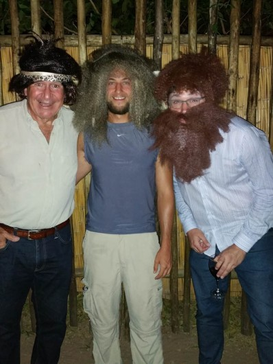 The Soggy Bottom Lewin Boys (cook Richard took possession of the wig and beard and had us all in hoots of laughter)