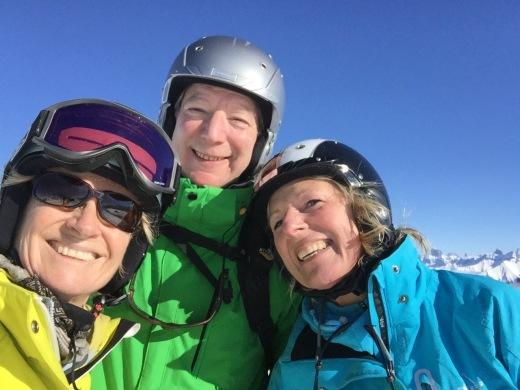 The Doc and her husband - yes I DO ski still!