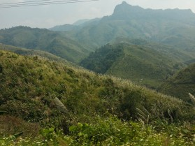 Mountainous country side, now denuded