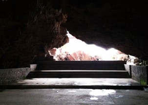 Entrance to the elephant cave - the music, conference and entertainment cave