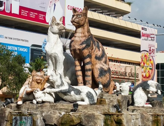Kuching means city of cats