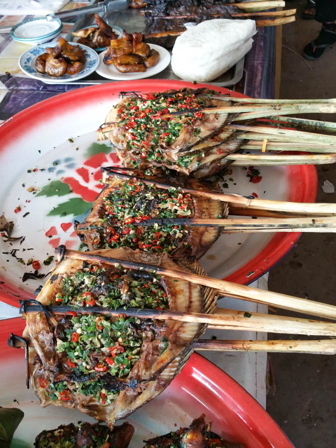 Grilled fish in Muang Sing
