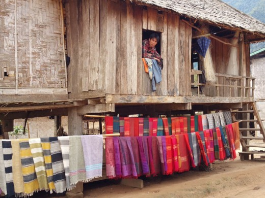 Colourful scarves - wish I'd bought one now!