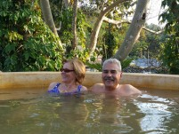 In the hot spring