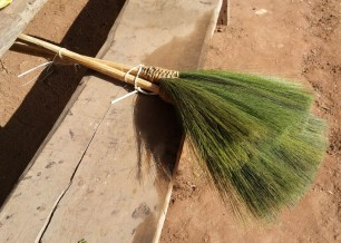 A broom made form the broom-brush plant
