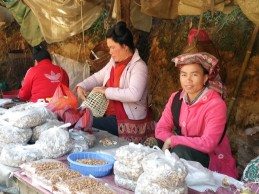 Black Tai ladies at the roadside market
