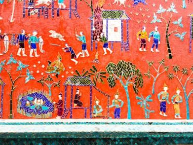 Mosaics in the Wat Xing Thong