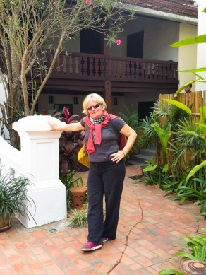Cindy outside the 3 Nagas