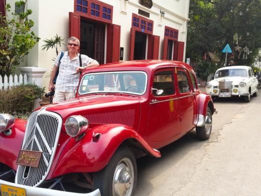 Fabulous vintage Citroen outside 3Nagas