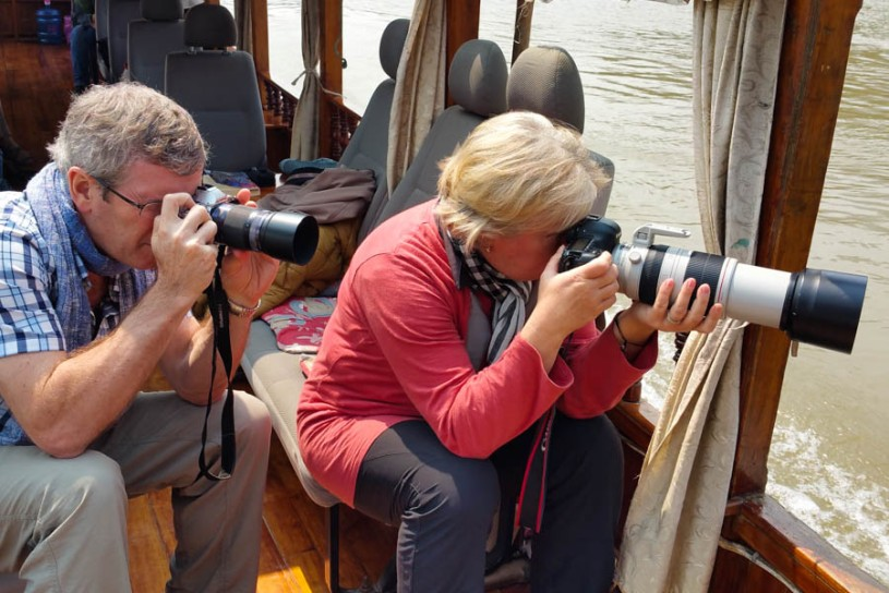 Ross and Cindy at work on teh boat