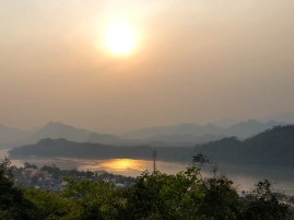 Sunset over Luang