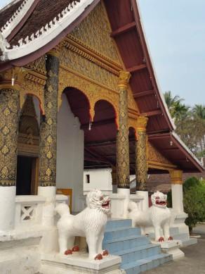 Temple lions...