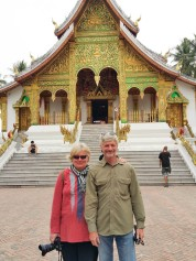 By the Wat Ho Pha Bhang temple
