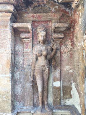 Parvati statue at the Nageshvara temple