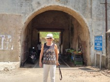 Outside one of the 18 century gates