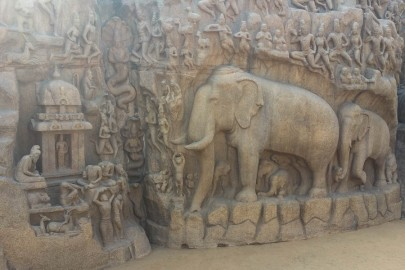 Famous bas-relief at Mamallapuram
