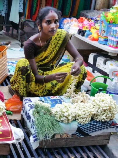 Temple flower seller