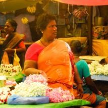 Flower seller, Pondi market