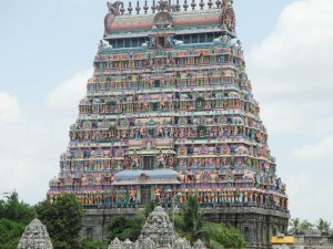 The gaudy main temple, Nataraja